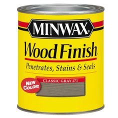 Minwax 1-Qt. Oil-Based Classic Gray Wood Finish Interior Stain-700484444 at The Home Depot