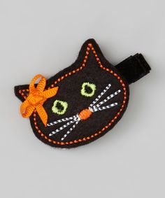 Look what I found on #zulily! Black Cat Felt Clip #zulilyfinds