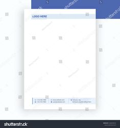 Modern Corporate Letterhead Design Template Stock Vector (Royalty Free) 1668298333