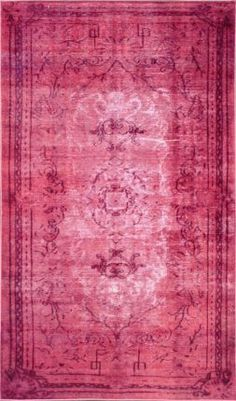 Winsdor Elmas Overdyed Pink Rug: This pink would be amazing with your gray!