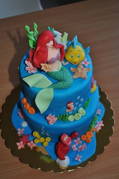 Ariel The Little Mermaid Cake  Flickr Photo Sharing