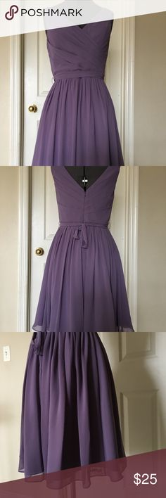 Pretty plum dress will embodies grace &elegance. Size 8 purple dress for your next party! D 'zage Dresses