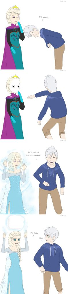 Jack vs. Elsa by almichi.deviantart.com on @deviantART