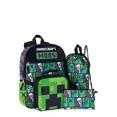 Minecraft Backpack, Kids Lunch For School, School Bags, Minecraft Materials, Minecraft Bedroom Decor, Minecraft School, Insulated Lunch Box, Boxing News, School