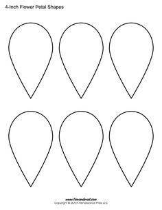 Download these free flower petal template shapes and create your printable flower petal templates for making paper flowers pronofoot35fo Gallery