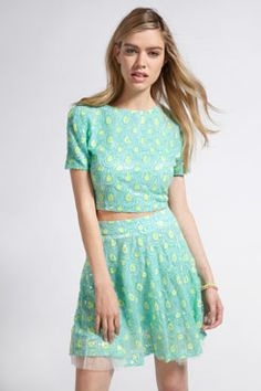 Boutique Selina Sequin Peacock Skirt at boohoo.com