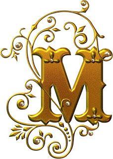 'M' for Monogram Flower Alphabet, Alphabet Art, Alphabet And Numbers, Letter Art, Illuminated Letters, Illuminated Manuscript, Lettering Design, Hand Lettering, Embroidery Monogram