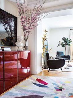 El vintage moderno, un piso con piezas retro