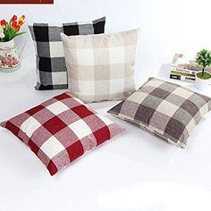 Amazon.com: Retro Grid Home Body Pillowcases,Highpot Simpel Style Square Cushion Cover Sofa Chair Car Home Decor (Khaki/B): Home & Kitchen