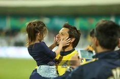 Shahid Khan Afridi with Daughter.