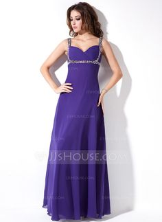Evening Dresses - $122.99 - Empire Sweetheart Floor-Length Chiffon Evening Dress With Ruffle Beading Sequins (017020671) http://jjshouse.com/Empire-Sweetheart-Floor-Length-Chiffon-Evening-Dress-With-Ruffle-Beading-Sequins-017020671-g20671