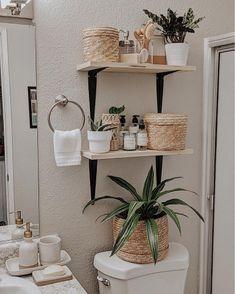 Bathroom Inspiration, Home Decor Inspiration, Boho Bathroom, Spa Bathroom Decor, Cream Bathroom, Bathroom Interior Design, Apartment Living, Diy Home Decor, Bedroom Decor
