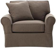 Mayfair Slipcovered Chair - Armchairs - Living Room - Furniture | HomeDecorators.com