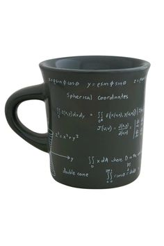 """For the math nerd in everyone look smart with this ceramic mug. Microwave and dishwasher safe.  Measures:4""""'H x 5""""W x 3.75""""D.  Math Mug by WRARE. Home & Gifts - Home Decor - Dining - Dinnerware Dallas Texas"""