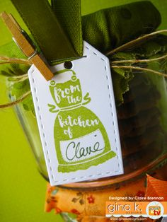 'From the kitchen of.' made with my new 'Sweet Thing' clear stamps now… Clear Stamps, Bookmarks, Cardmaking, Stamping, Greeting Cards, Cupcakes, Paper Crafts, Tags, Sweet