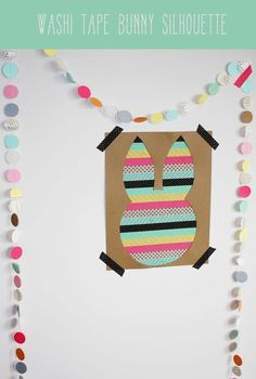 DIY easter crafts DIY Washi Tape Bunny Silhouette DIY easter crafts