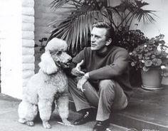 Kirk Douglas with his poodle Check out our website at www.poodlerescuevt.org and follow us on Facebook at www.facebook.com/pages/Poodle-Rescue-of-Vermont/167941746567108