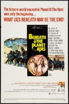 Beneath The Planet Of The Apes Movie poster Metal Sign Wall Art 8in x 12in