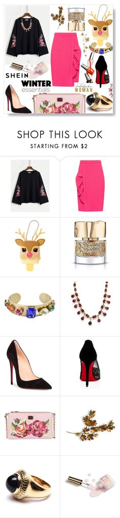 """Shein"" by eldinreham on Polyvore featuring Boutique Moschino, Tiffany & Co., Christian Louboutin, Dolce&Gabbana, C. Jeré, Puck Wanderlust and Ciaté"