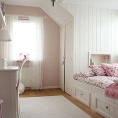 love this room. paint : farrow & ball: calamine No 230 Curtains from Ikea:  Alvine Spets Bedding:  Pip Studio Amsterdam (PIPSTUDIO.COM/EN/)