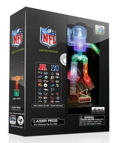 Love this Limited Edition NFL 6-in-1 Laser Peg Set by Laser Pegs on #zulily! #zulilyfinds