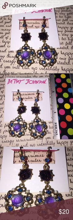 Flower Medallion Drop Earrings Fashion Earrings Betsey Johnson Flower Medallion Drop Earrings Fashion Earrings Gold Betsey Johnson Jewelry Earrings