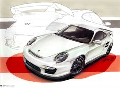 Traditional drawing of a Porsche GT2 made with markers in A3 paper. 12h of work. Video here -> http://www.youtube.com/watch?v=VwBkNCJa9nw=UUvE7t_eByrVtsvb23-dwLAQ=2=plcp.