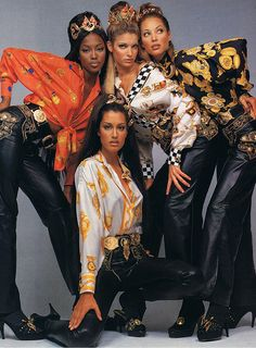 1990's Versace advertisement photographed by Richard Avedon.