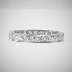 Platinum Full Set Diamond Eternity Ring Circa 1940