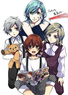 Quartet Night as kids with the exception of Ai. Anime: Uta no Prince-Sama Maji Love Manga Mania, Anime Group, Canadian Girls, Free Iwatobi Swim Club, Shugo Chara, Uta No Prince Sama, Vampire Knight, Handsome Anime, Nanami