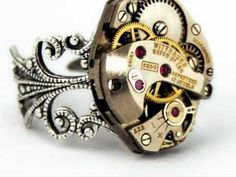Steampunk Jewellery Rings - http://steampunkvapemod.com/steampunk-jewellery-rings/