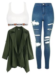 """""""Untitled #157"""" by missunicornpatch on Polyvore featuring Moschino and Topshop"""
