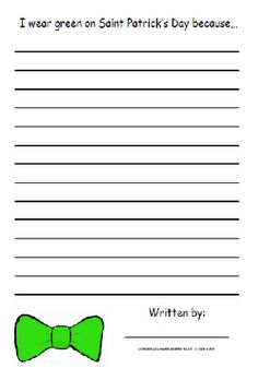 HoJos Teaching Adventures: St. Patrick's Day Writing Prompts for Grades K-5