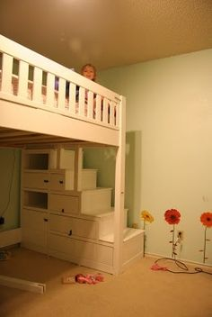 Great idea with storage under the stairs