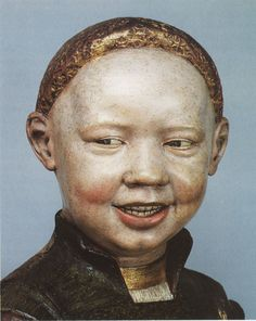 Guido Mazzoni (attrib.), Laughing Child (possibly Henry VIII.), c. 1495, painted and gilded terracotta, Windsor Castle, The Royal Art Collection. Although i think the nose is too wide, but thats is just my personal thought.