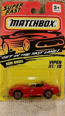 Matchbox collectible 1:64 scale new in package Viper RT 10 1993