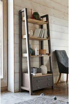 Buy Huxley Painted Ladder Shelves from the Next UK online shop : Next Huxley Painted Ladder Shelves – Cream Bookcase Shelves, Corner Shelves, Shelving Units, Ladder Bookshelf, Mounted Shelves, Bookcases, Solid Pine Furniture, Diy Furniture, Ladder Shelf Diy