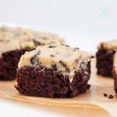 Brownies mit Keksteig-Topping (Cookie Dough)