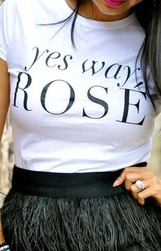 'Yes way rosé' tee - 30% off with code: THANKYOU30 http://rstyle.me/n/qc66sn2bn