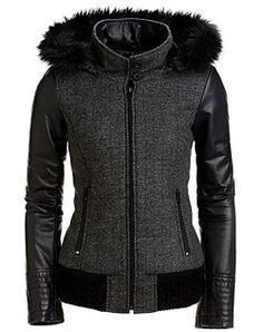 Danier, leather fashion and design (LG) Punk Fashion, Leather Fashion, Fashion Outfits, Womens Fashion, Winter Wear, Autumn Winter Fashion, Coats For Women, Jackets For Women, Cool Jackets