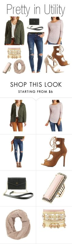 """""""Pretty in Utility"""" by charlotterusse ❤ liked on Polyvore featuring Charlotte Russe, Sneak Peek, Dollhouse, women's clothing, women, female, woman, misses, juniors and stylesteal"""