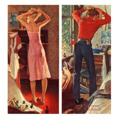 """""""Before the Date"""", September 24,1949 Giclee Print by Norman Rockwell at Art.com"""