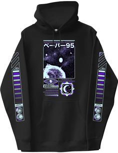 Long Sleeve Graphic HoodieStar Surfer Long Sleeve Graphic Hoodie Legion Long Sleeve Graphic Hoodie Hope Is Gone Long Sleeve Graphic Hoodie Chimney-collar Sweatshirt - Black/Gamer - Kids Japanese Hoodie, Ropa Hip Hop, Vaporwave Fashion, Cool Outfits, Fashion Outfits, Emo Fashion, Summer Outfits, Surfer, Cool Hoodies