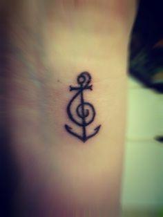 Treble Clef anchor. <3