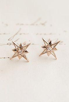 Compass star earrings (cool tattoo idea too)