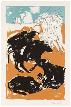 Slaughtering the cattle of the Sun 1973 Dame Elisabeth Frink - Tate Gallery Elisabeth Frink, Homer Odyssey, Tate Gallery, Animals Images, Illustrations And Posters, Artist At Work, Sculpture Art, Printmaking, Modern Art