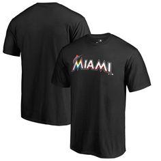 Miami Marlins Fanatics Branded Big & Tall Team Wordmark T-Shirt - Black