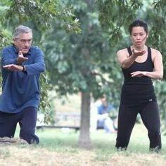 Tai chi chuan Tiffany Chen teaching Robert de Niro - Chinese martial arts