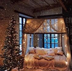 bedroom Cozy & Festive Christmas Bedroom Decorations To Keep Up All Holiday Season - Hike n Dip Indulge in the holiday spirit by decorating your bedroom. Choose from over 50 cozy & festive Christmas Bedroom decorations perfect for the holiday season. Decoration Bedroom, Christmas Mood, Christmas Coffee, Christmas Ideas, Country Christmas, Christmas Inspiration, Christmas Lights, Cabin Christmas, Winter Wonderland Christmas