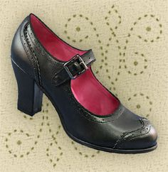 These are adorable shoes - Aris Allen Heeled 1940s Mary Jane Wingtip